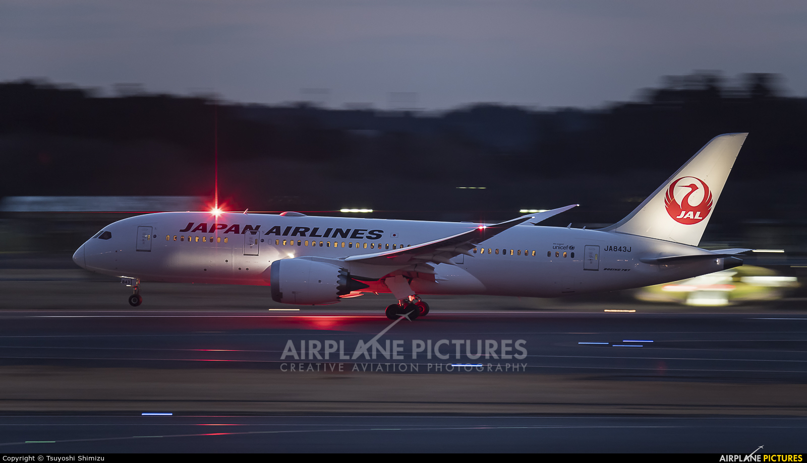 JAL - Japan Airlines JA843J aircraft at Tokyo - Narita Intl