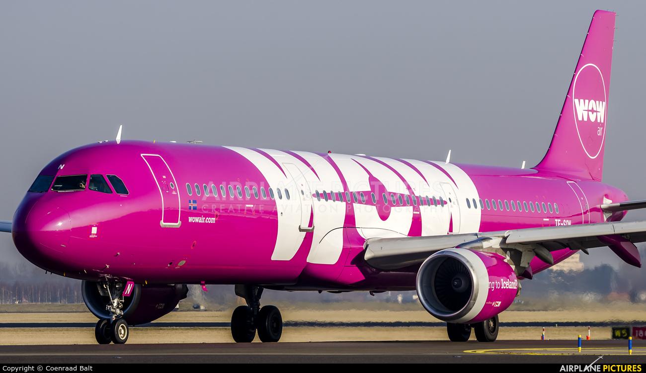 WOW Air TF-SON aircraft at Amsterdam - Schiphol