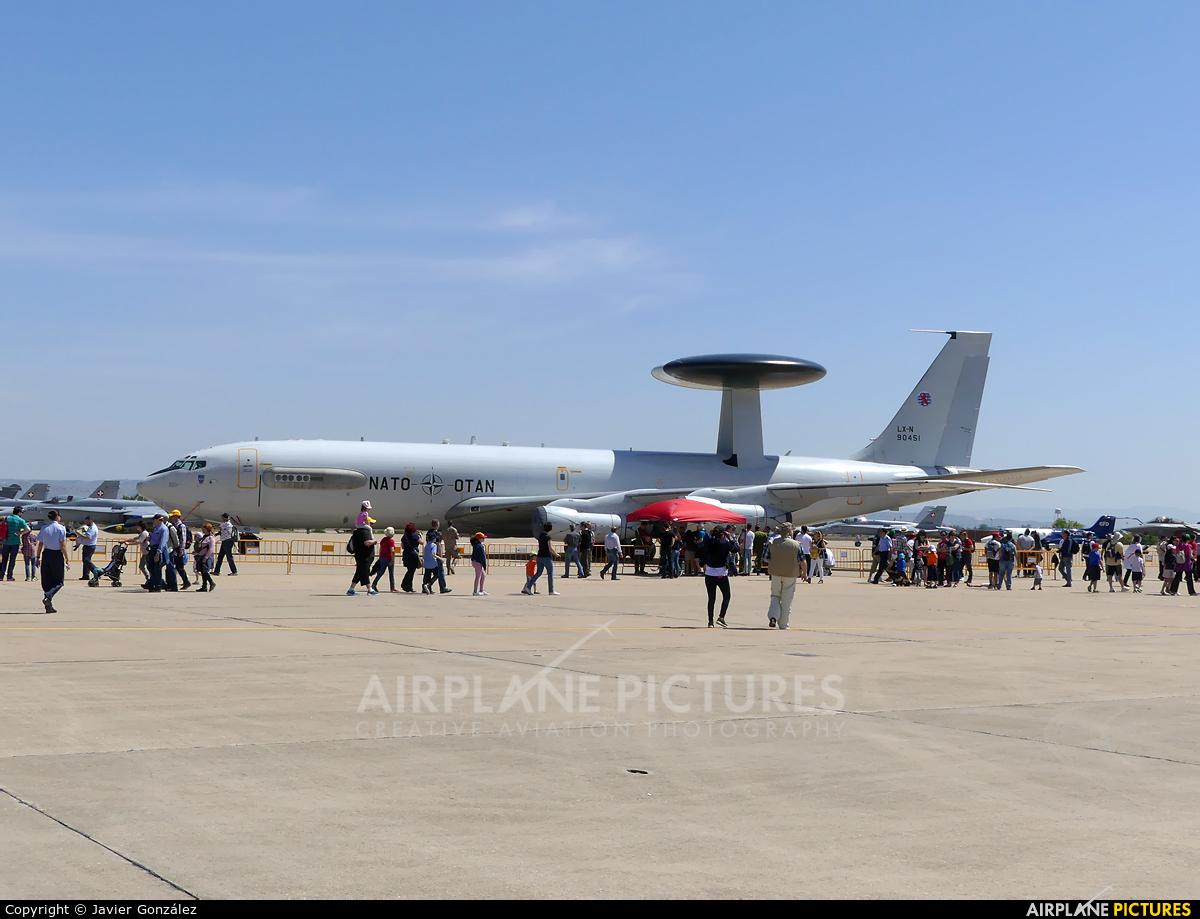 NATO LX-N90451 aircraft at Zaragoza