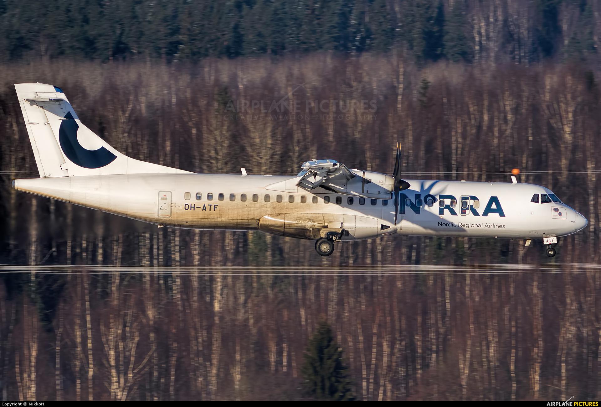NoRRA - Nordic Regional Airlines OH-ATF aircraft at Helsinki - Vantaa