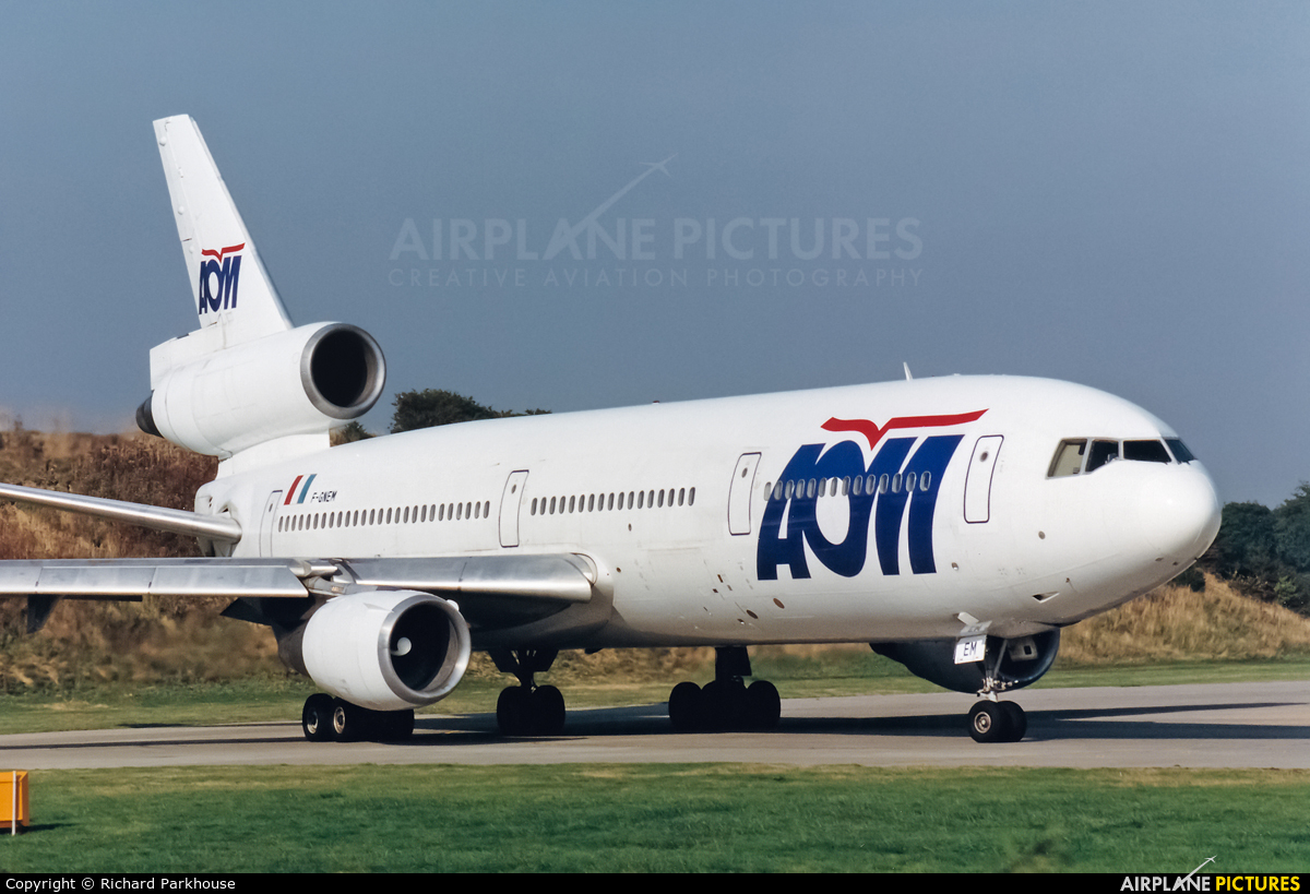 AOM F-GNEM aircraft at London - Gatwick