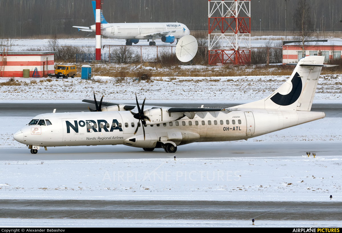 NoRRA - Nordic Regional Airlines OH-ATL aircraft at St. Petersburg - Pulkovo