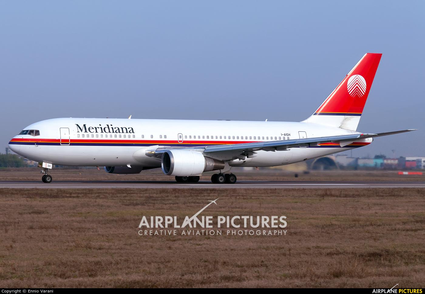 Meridiana I-AIGH aircraft at Verona - Villafranca