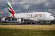 A6-EOW - Emirates Airlines Airbus A380 aircraft