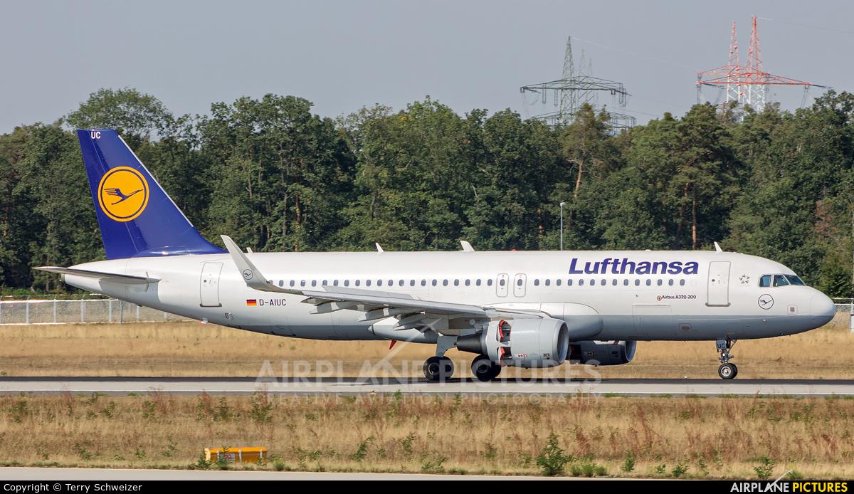 Lufthansa D-AIUC aircraft at Frankfurt