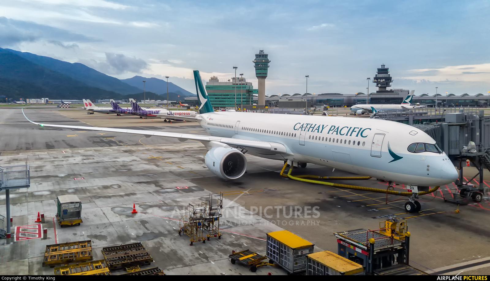Cathay Pacific B-LRA aircraft at HKG - Chek Lap Kok Intl