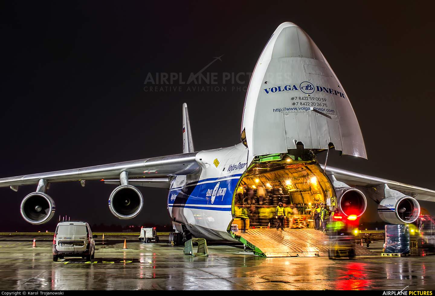 Volga Dnepr Airlines RA-82047 aircraft at Warsaw - Frederic Chopin