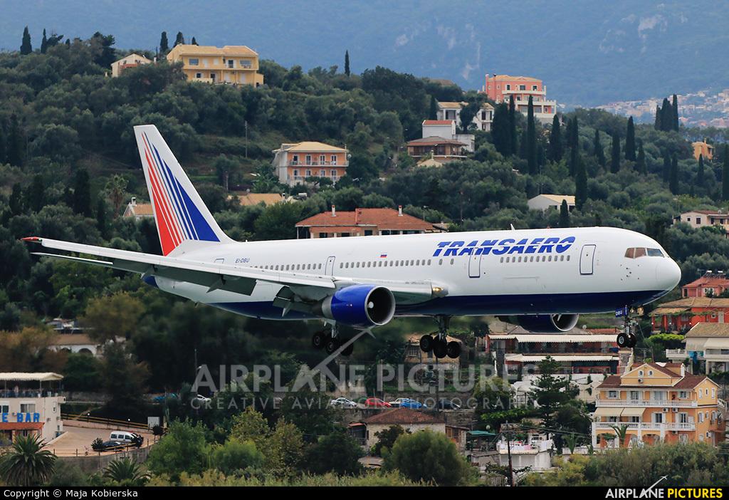 Transaero Airlines EI-DBU aircraft at Corfu - Ioannis Kapodistrias