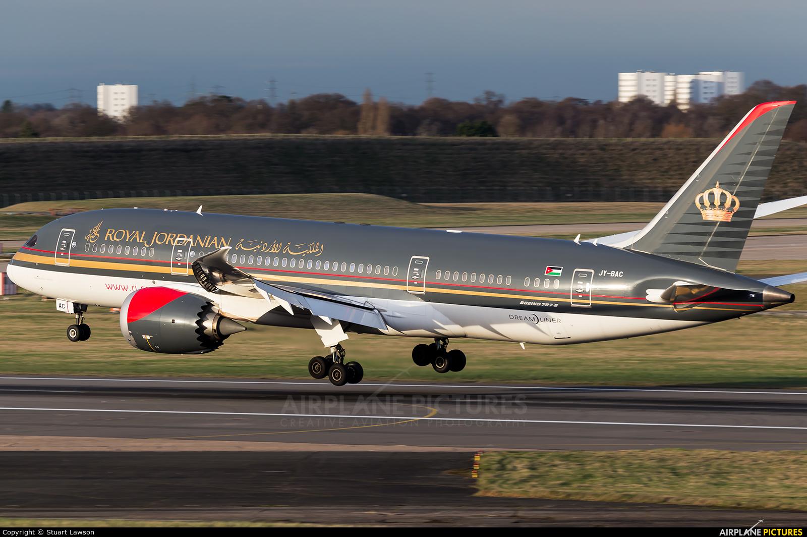 Royal Jordanian JY-BAC aircraft at Birmingham