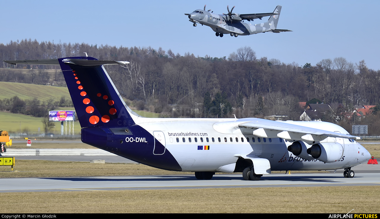 Brussels Airlines OO-DWL aircraft at Kraków - John Paul II Intl