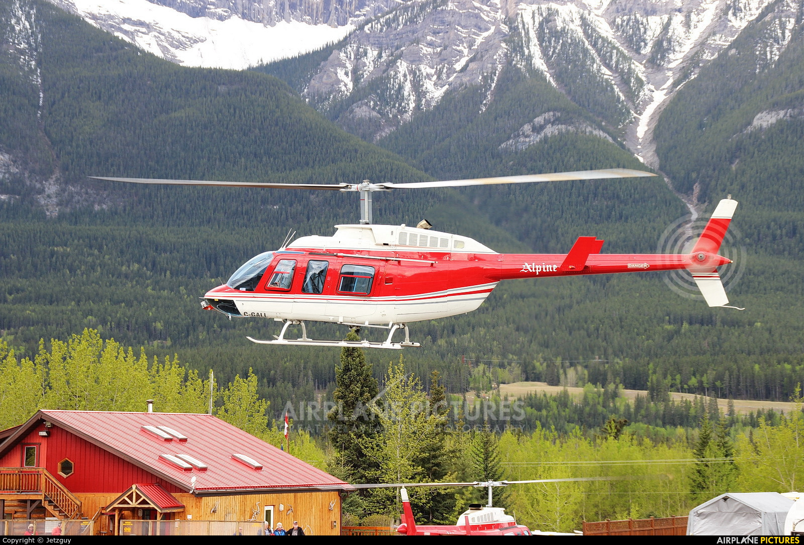 Alpine Helicopters Canada C-GALL aircraft at Canmore Municipal Heliport