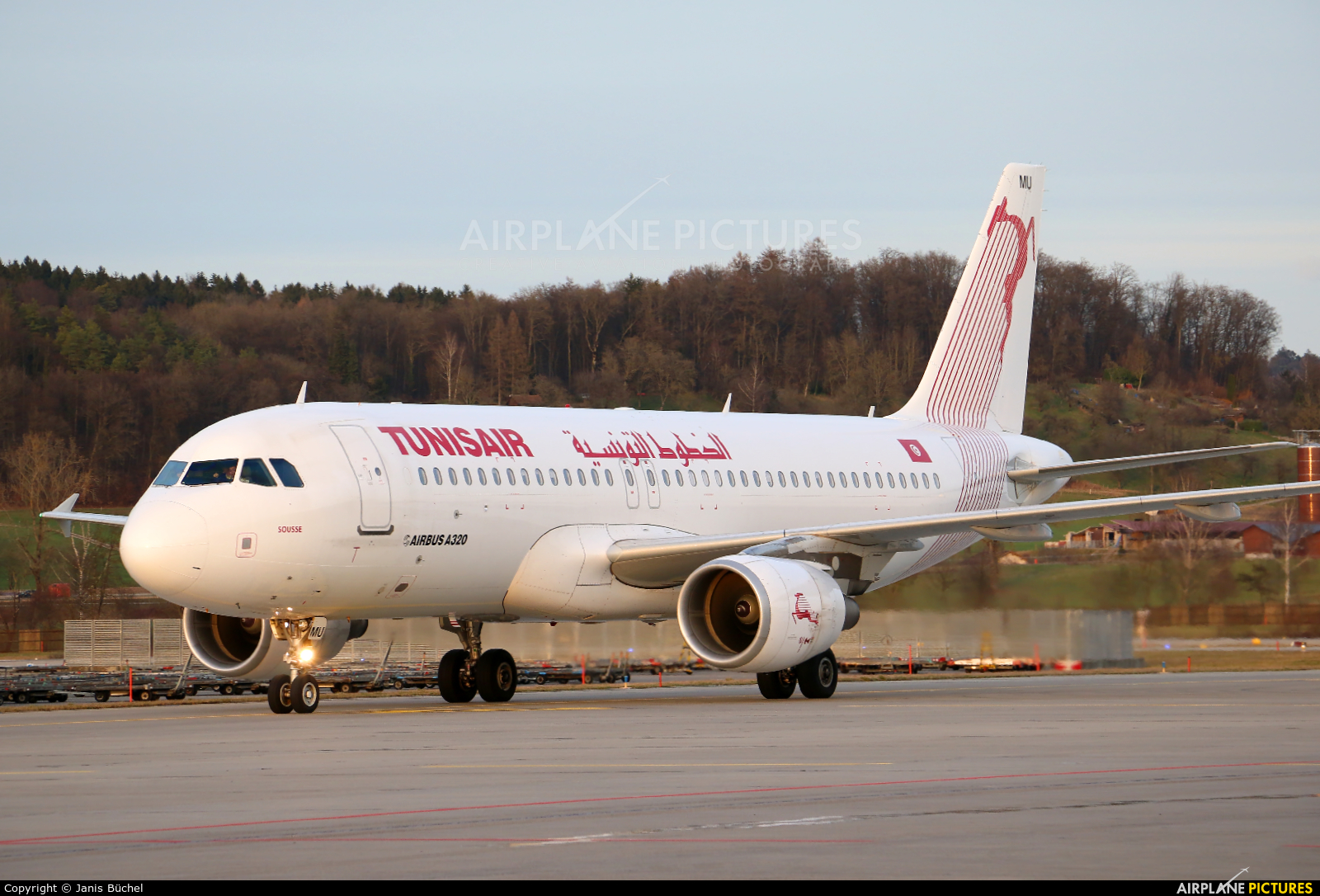 Tunisair TS-IMU aircraft at Zurich