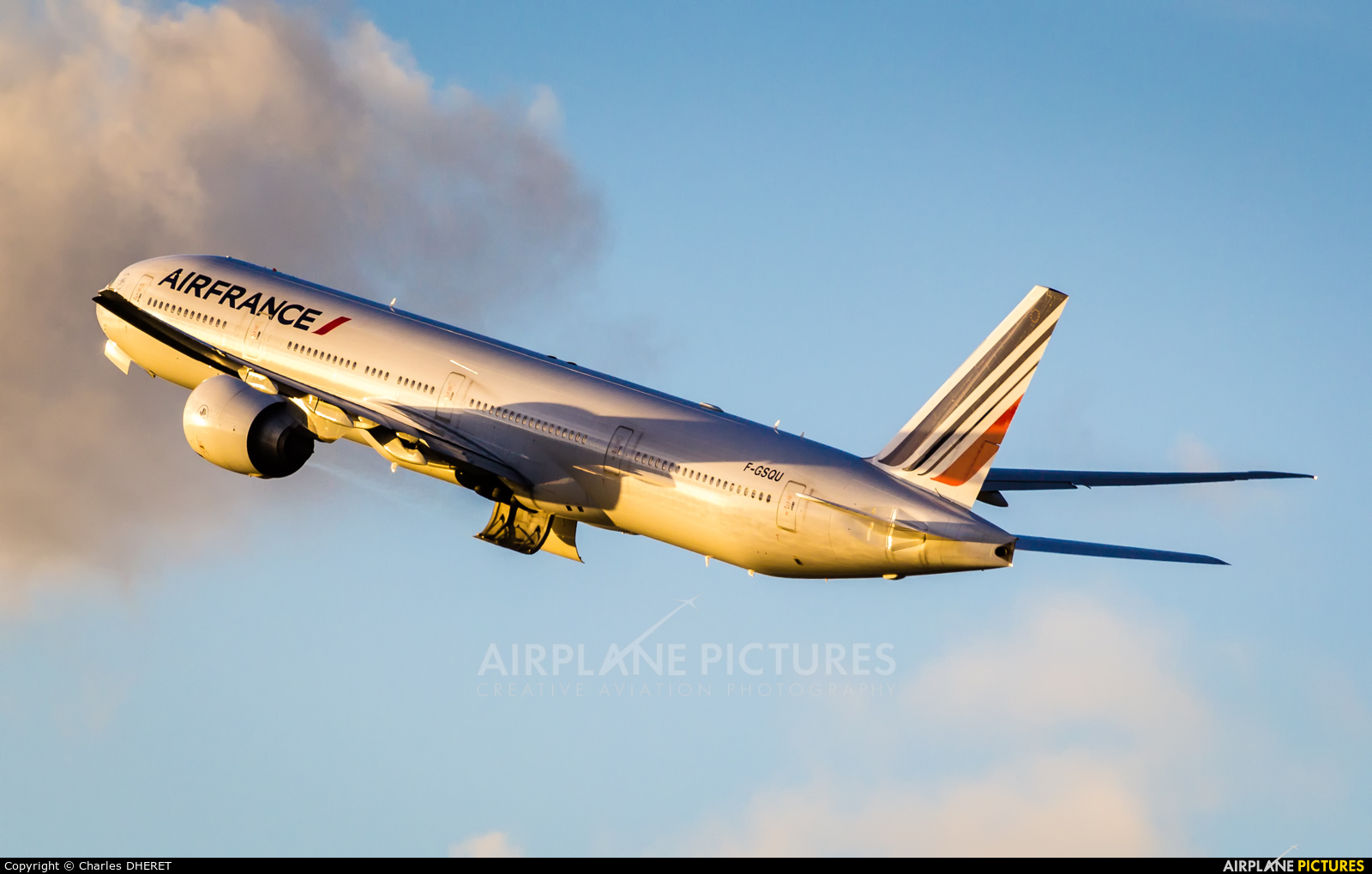 Air France F-GSQU aircraft at Paris - Charles de Gaulle