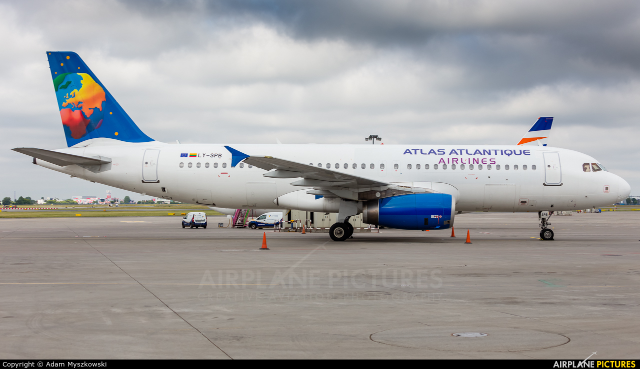 Atlas Atlantique Airlines LY-SPB aircraft at Warsaw - Frederic Chopin
