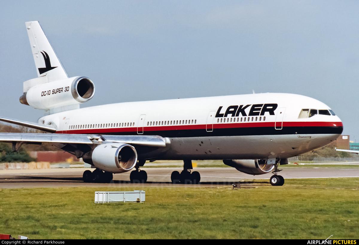 Laker Airways N833LA aircraft at London - Gatwick