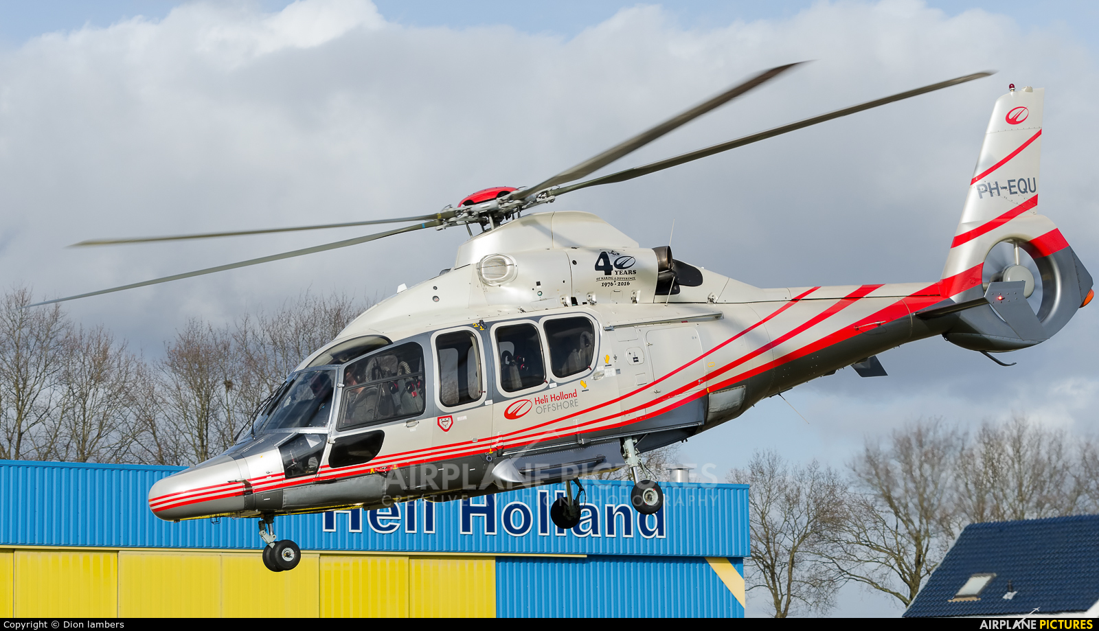 Heli Holland Offshore PH-EQU aircraft at Heli-port Emmen