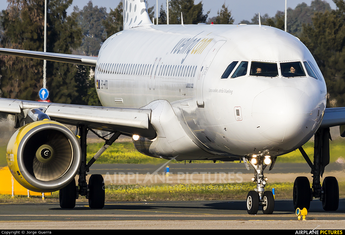 Vueling Airlines EC-HTD aircraft at Murcia - San Javier