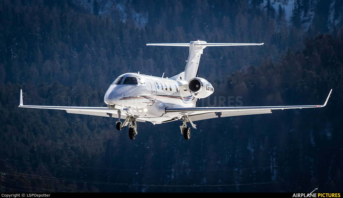 NetJets Europe (Portugal) CS-PHH aircraft at Samedan - Engadin