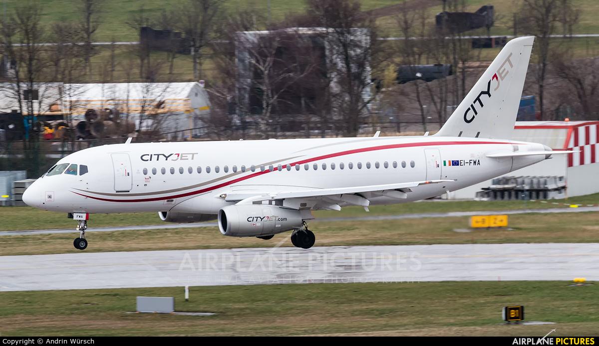 CityJet EI-FWA aircraft at Zurich