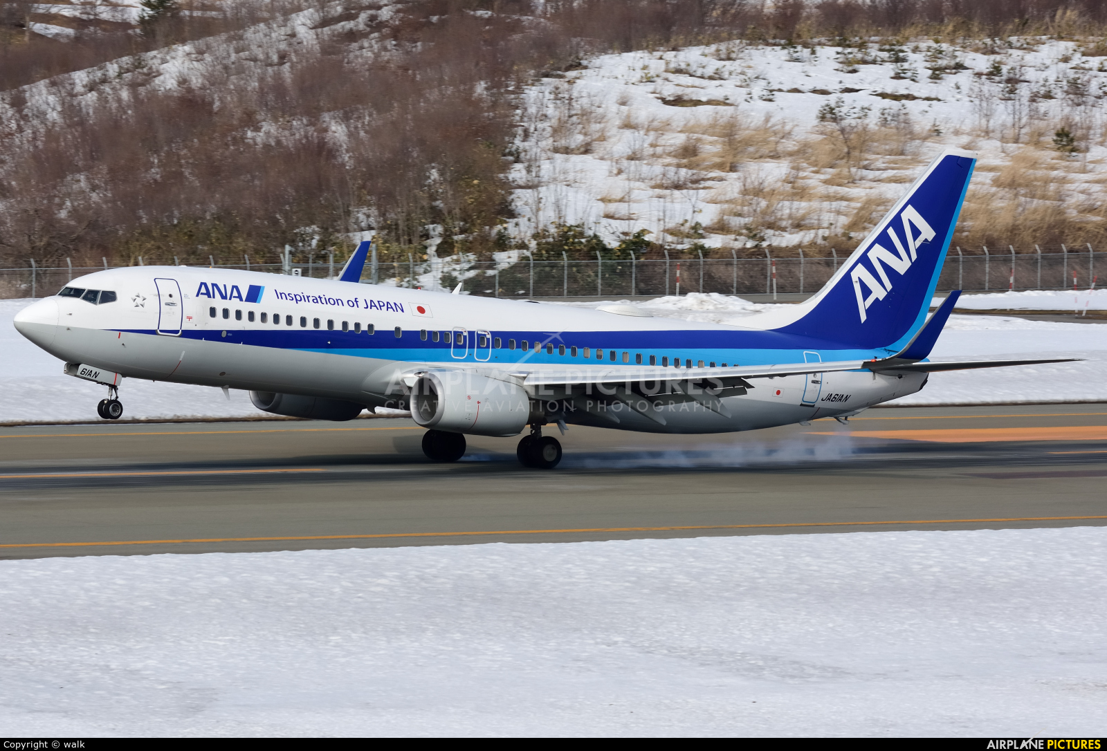 ANA - All Nippon Airways JA61AN aircraft at Akita
