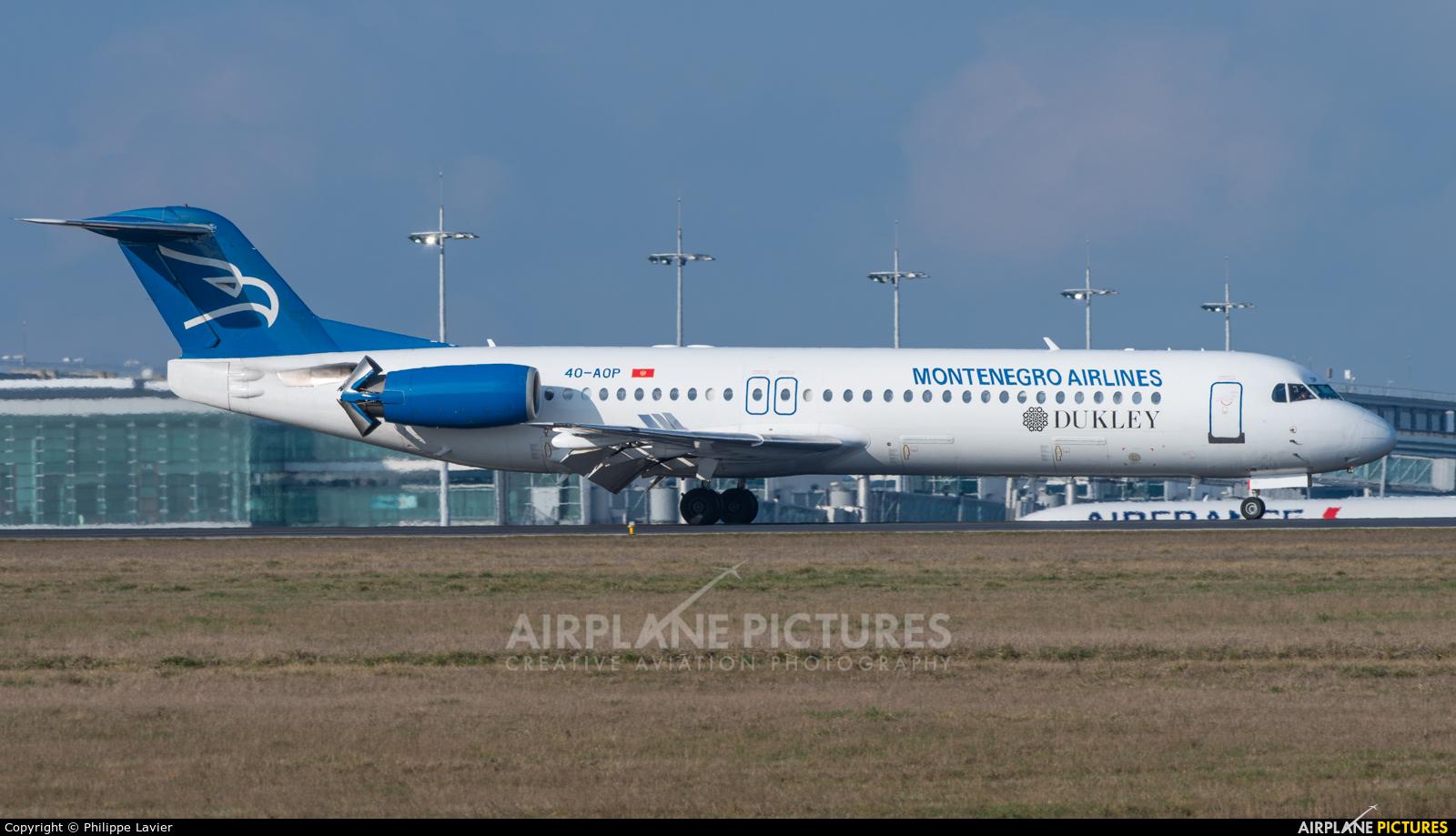 Montenegro Airlines 4O-AOP aircraft at Paris - Charles de Gaulle