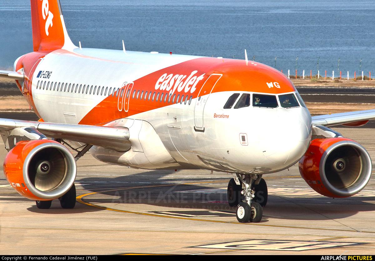 easyJet G-EZWG aircraft at Fuerteventura - Puerto del Rosario