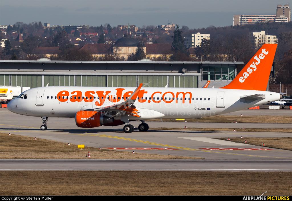 easyJet G-EZOK aircraft at Stuttgart