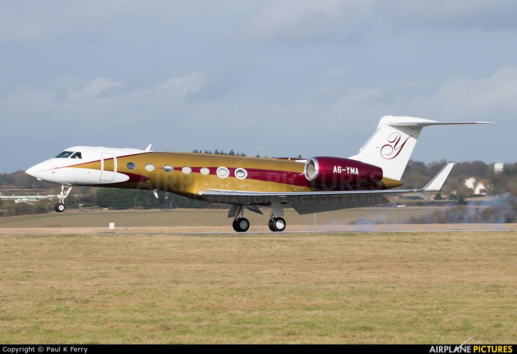 Private A6-YMA aircraft at London - Luton