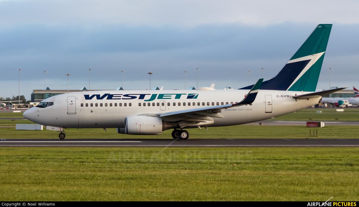 WestJet Airlines C-GVWJ aircraft at Dublin