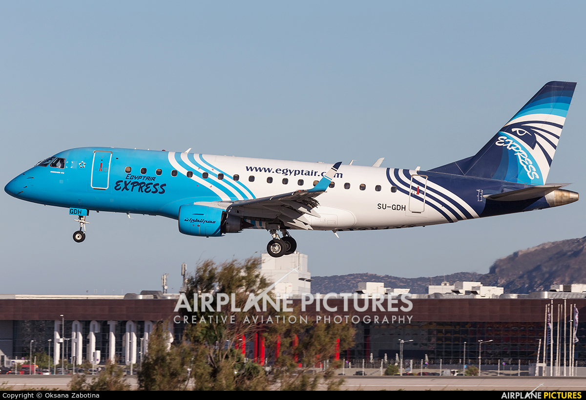 Egyptair Express SU-GDH aircraft at Athens - Eleftherios Venizelos