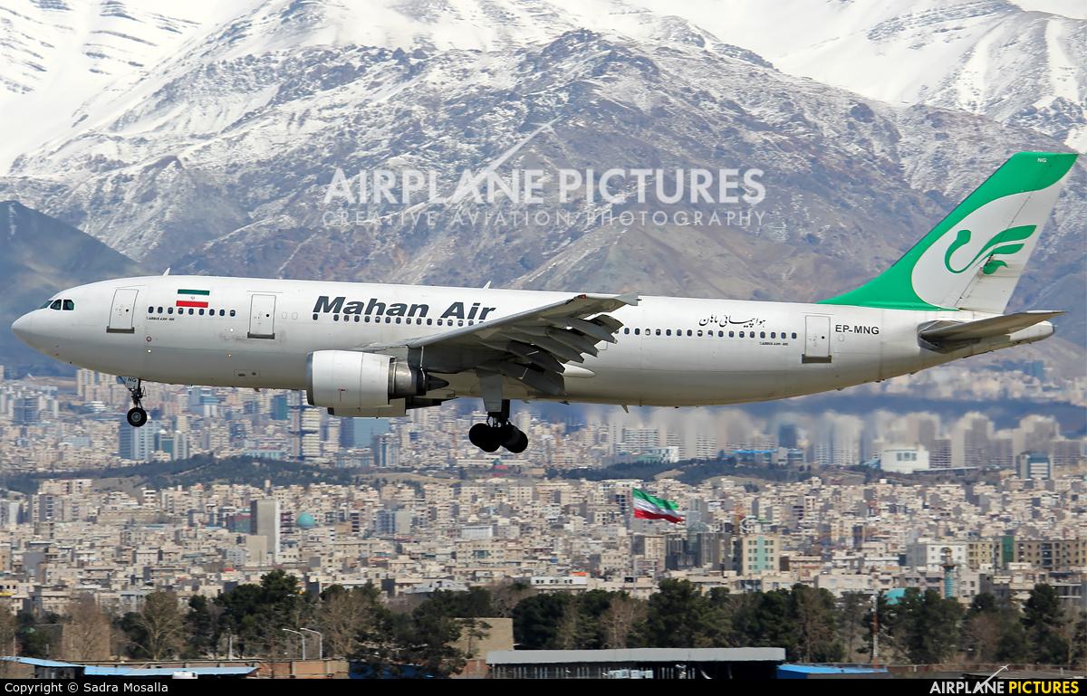 Mahan Air EP-MNG aircraft at Tehran - Mehrabad Intl