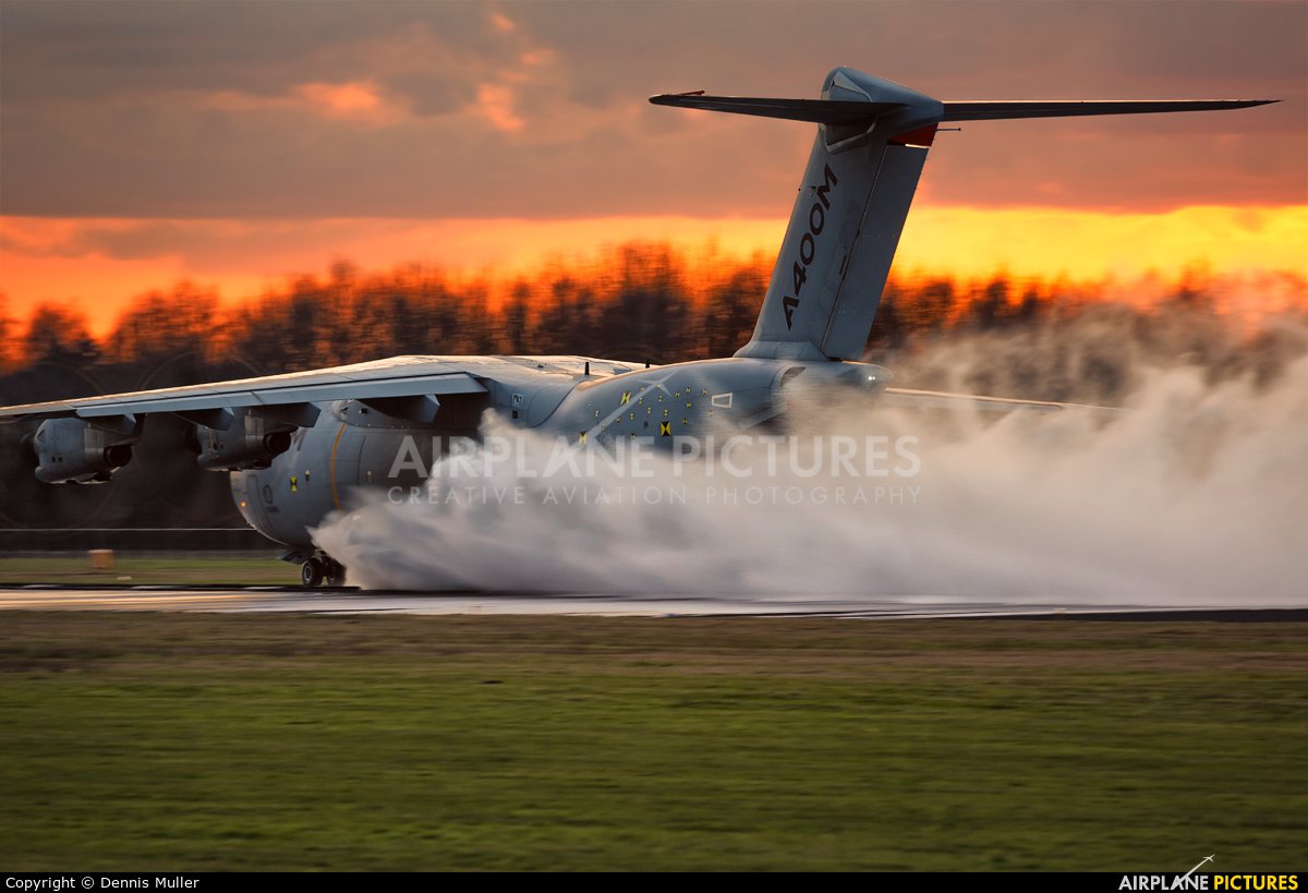 Airbus Military EC-402 aircraft at Enschede Airport Twente