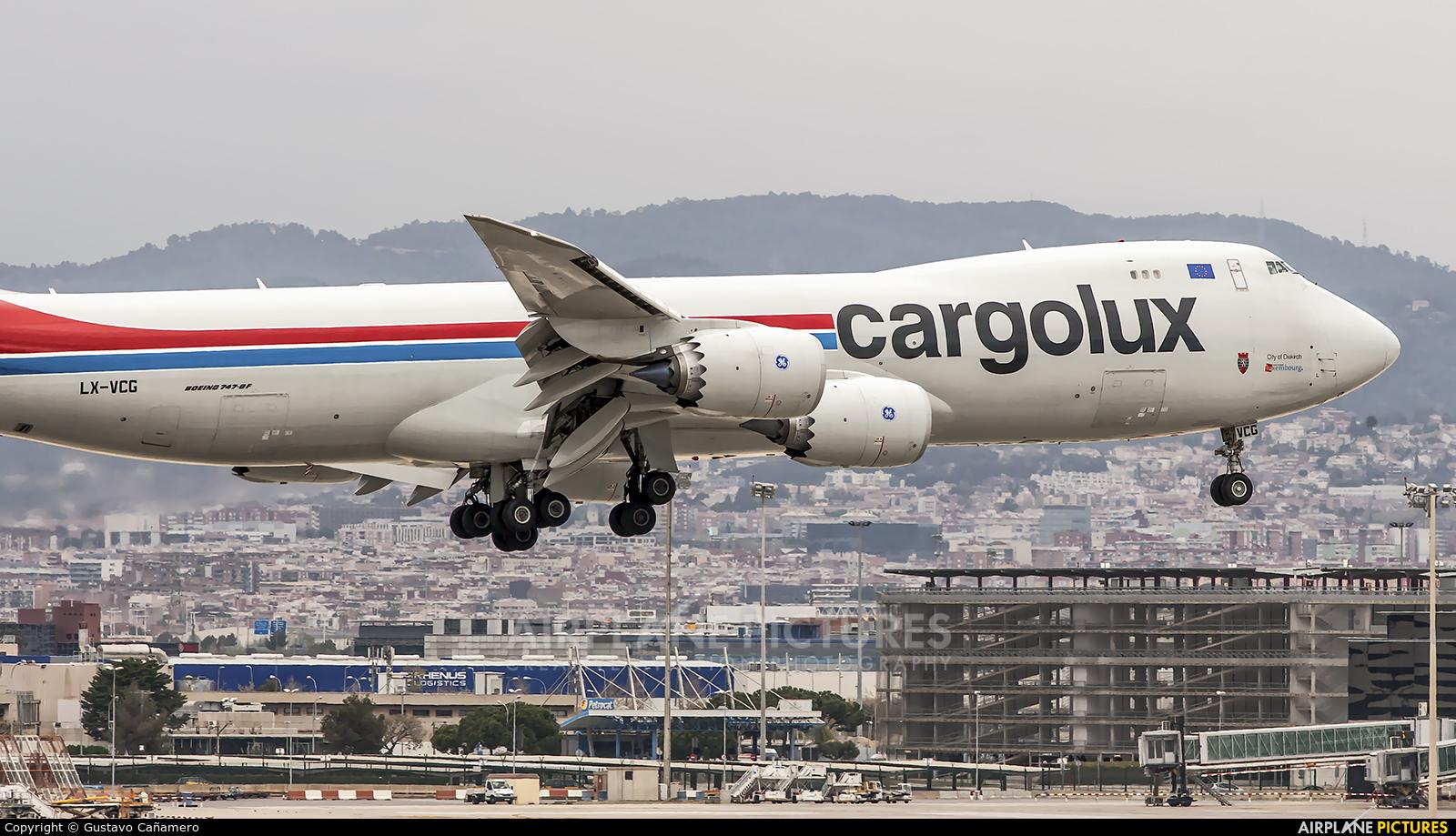Cargolux LX-VCG aircraft at Barcelona - El Prat