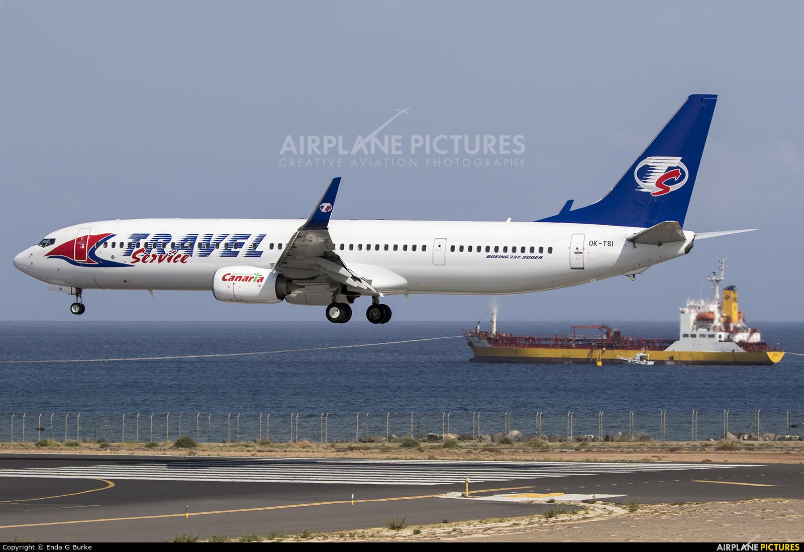 Travel Service OK-TSI aircraft at Lanzarote - Arrecife