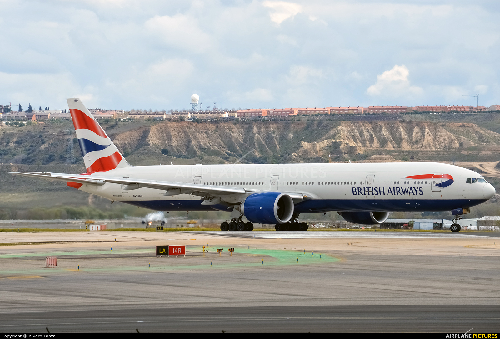 British Airways G-STBD aircraft at Madrid - Barajas