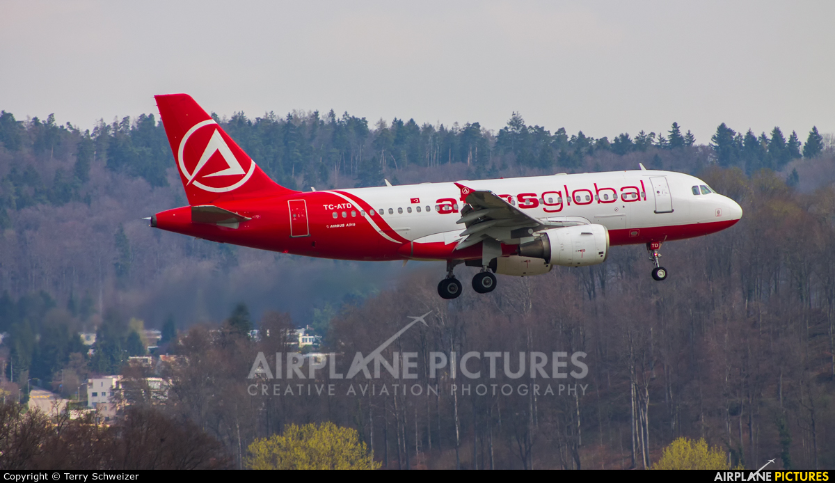 Atlasglobal TC-ATD aircraft at Zurich