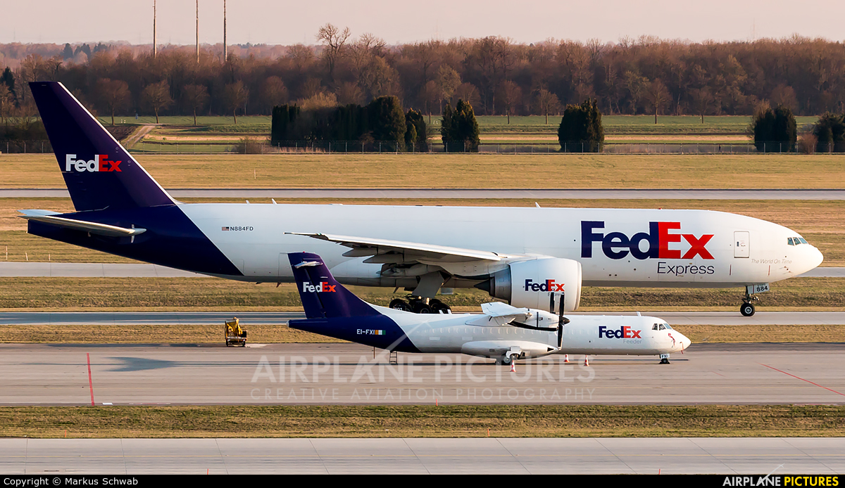 FedEx Federal Express N884FD aircraft at Munich