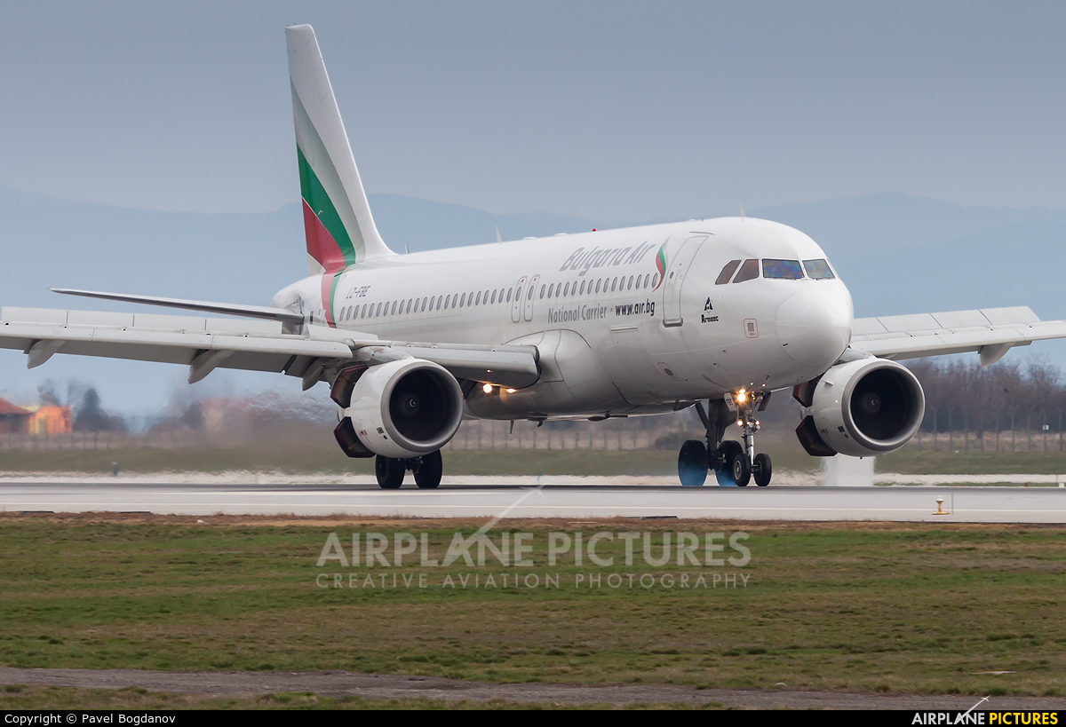 Bulgaria Air LZ-FBE aircraft at Sofia