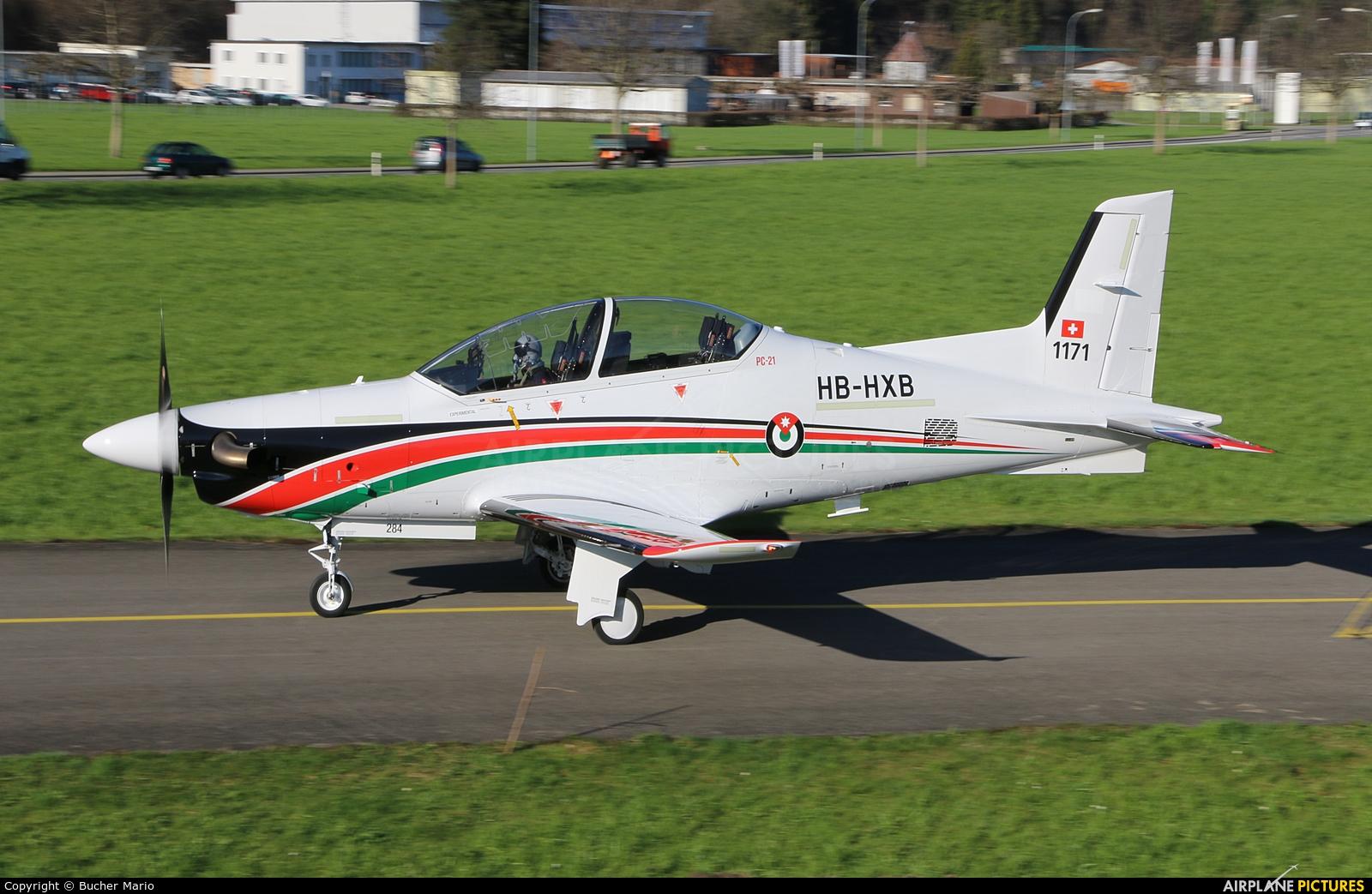 Jordan - Air Force HB-HXB aircraft at Buochs