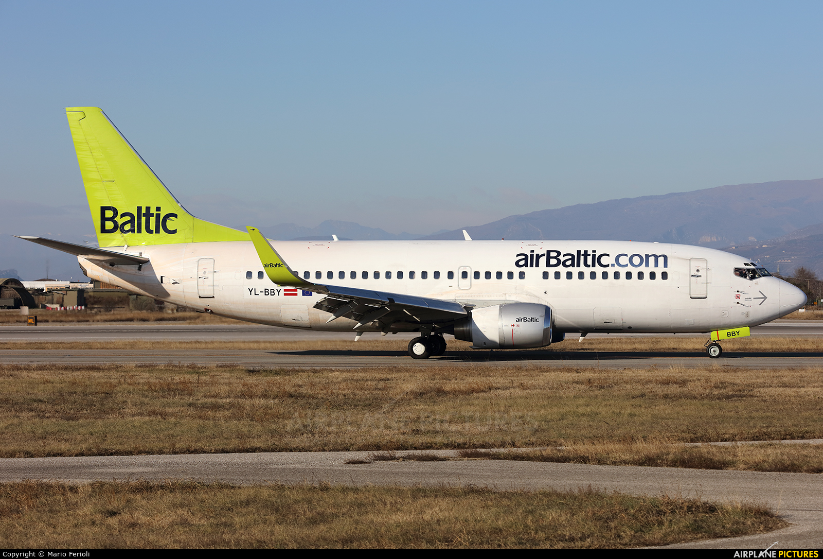 Air Baltic YL-BBY aircraft at Verona - Villafranca