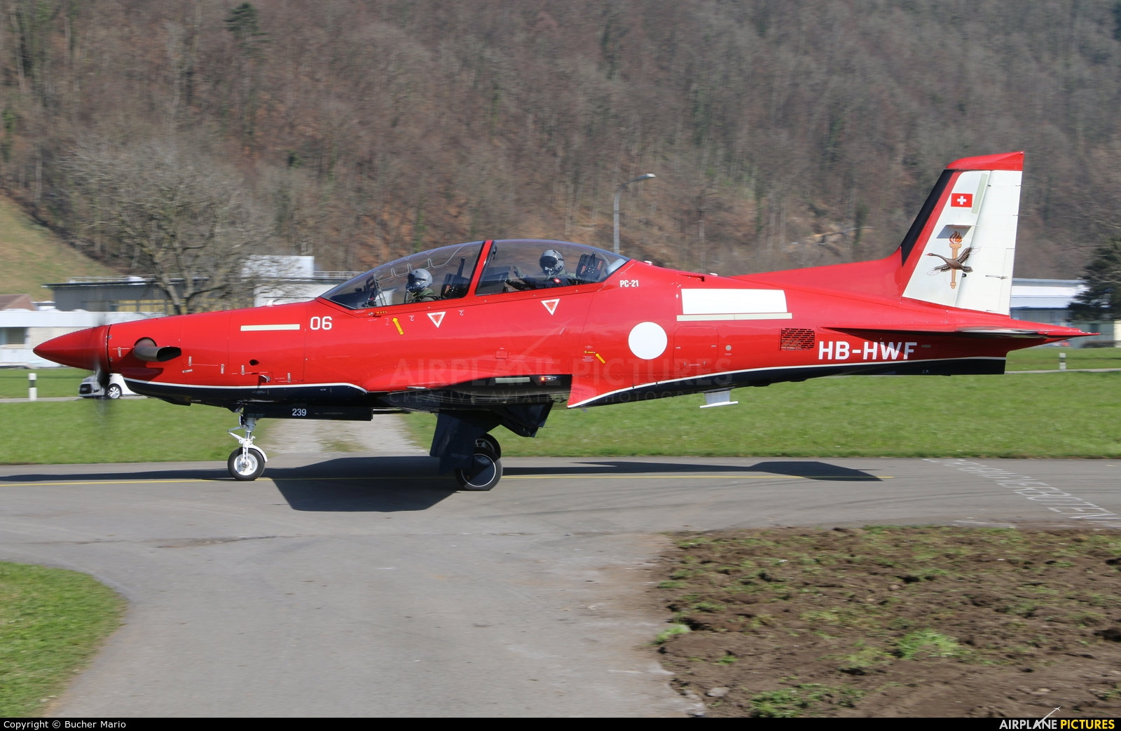 Royal Australian Air Force HB-HWF aircraft at Buochs