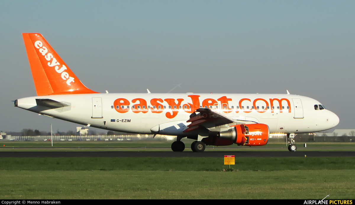 easyJet G-EZIM aircraft at Amsterdam - Schiphol