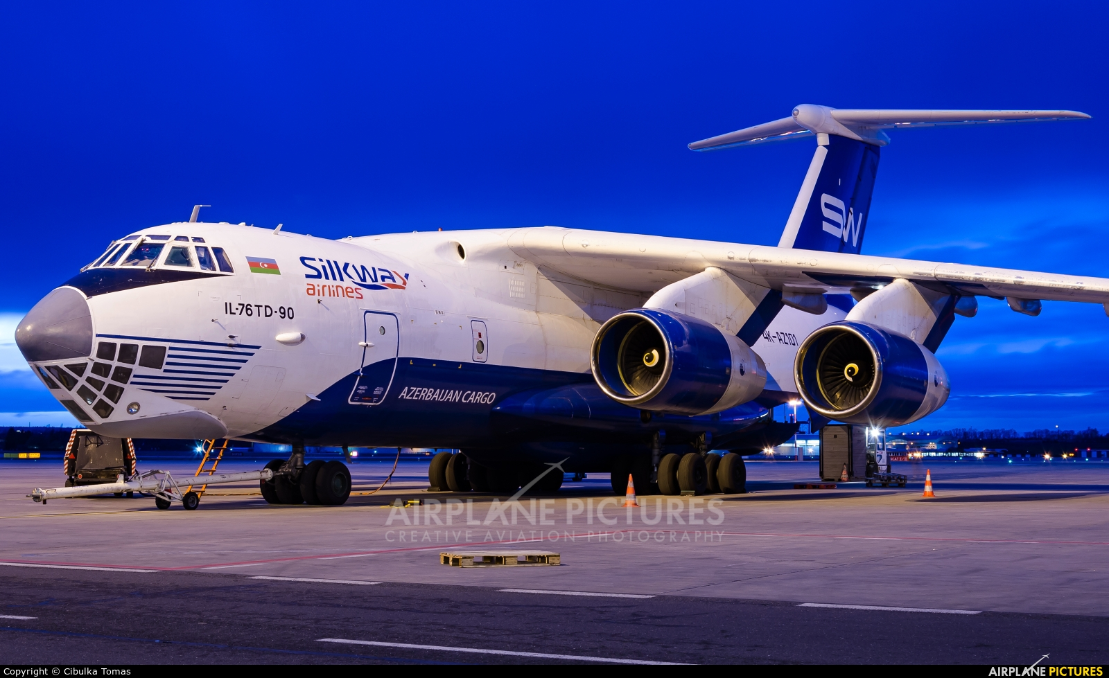 Silk Way Airlines 4K-AZ101 aircraft at Prague - Václav Havel