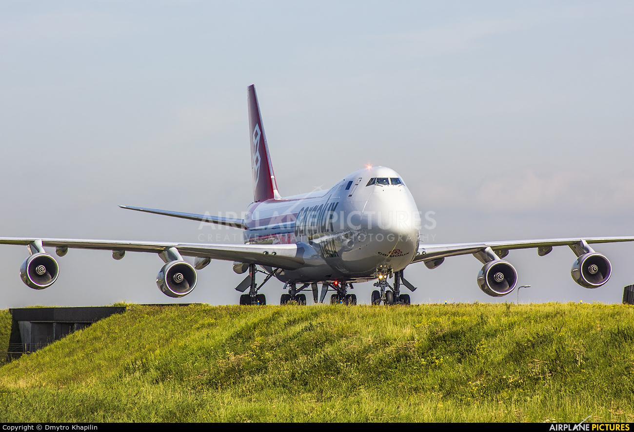 Cargolux Italia LX-YCV aircraft at Amsterdam - Schiphol