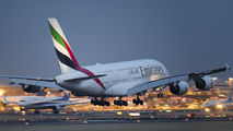 A6-EUF - Emirates Airlines Airbus A380 aircraft