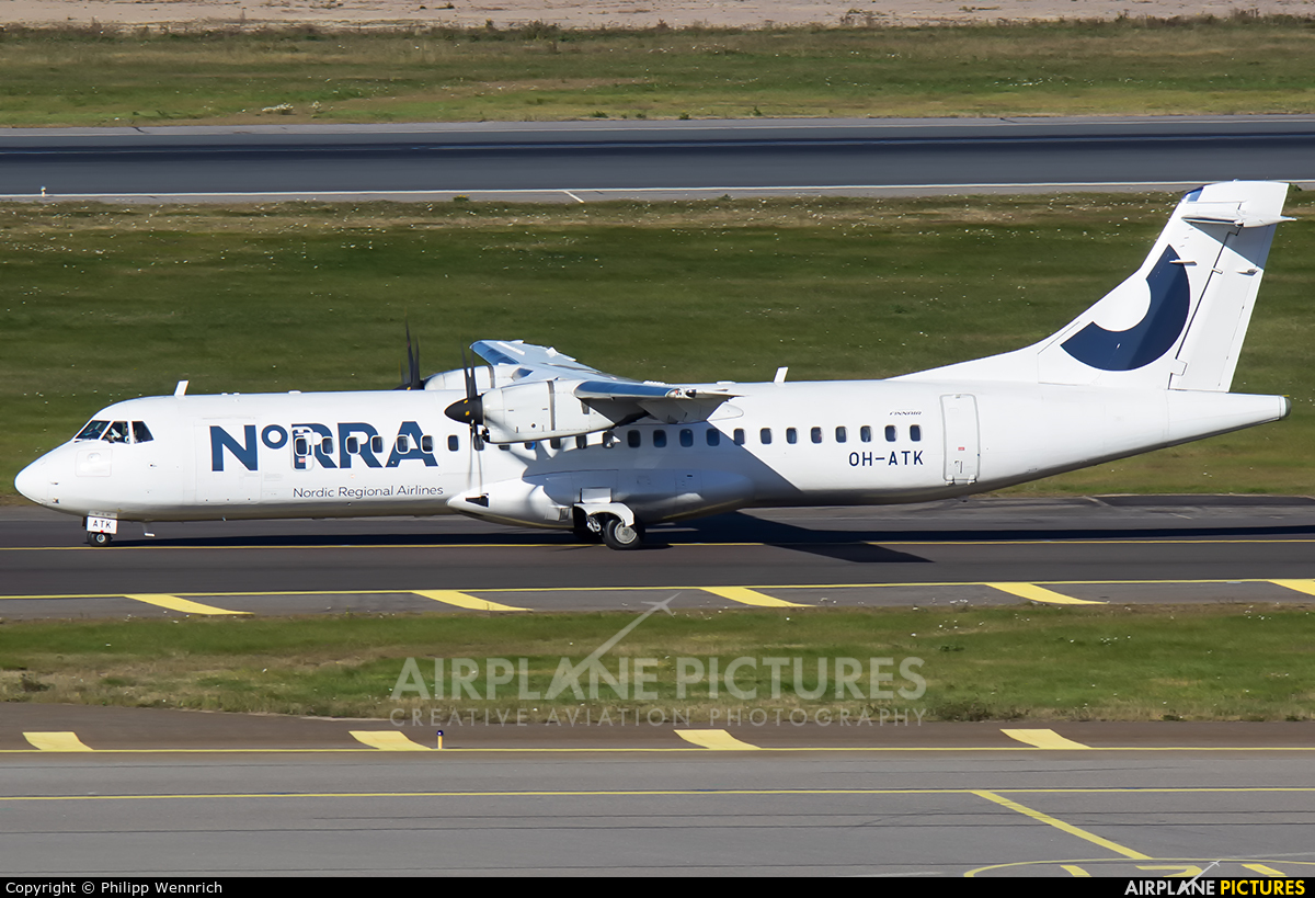 NoRRA - Nordic Regional Airlines OH-ATK aircraft at Helsinki - Vantaa