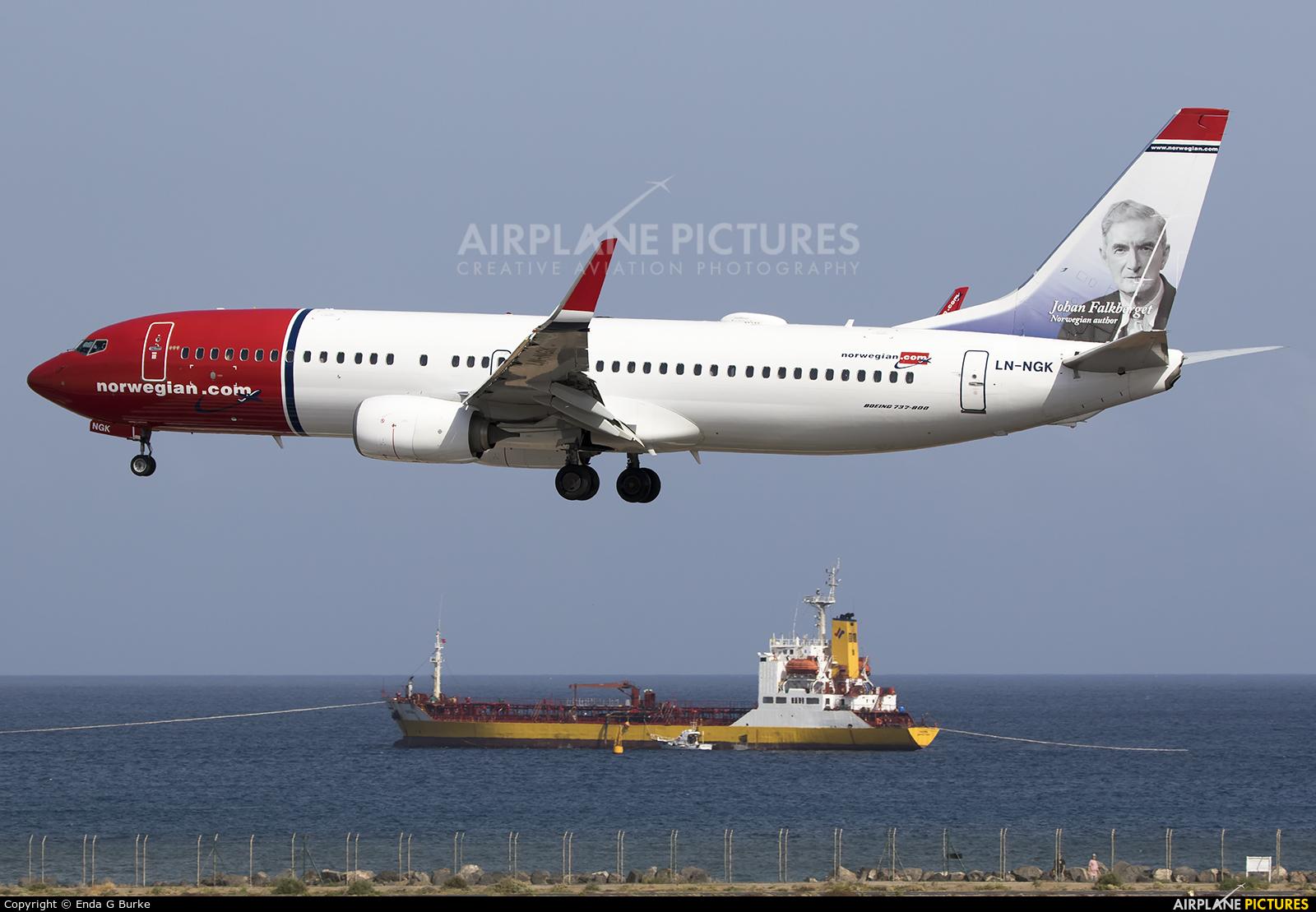 Norwegian Air Shuttle LN-NGK aircraft at