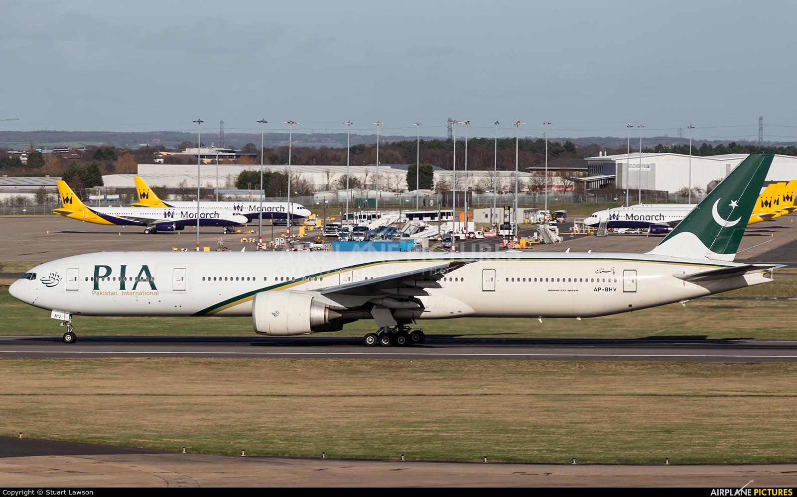 PIA - Pakistan International Airlines AP-BHV aircraft at Birmingham