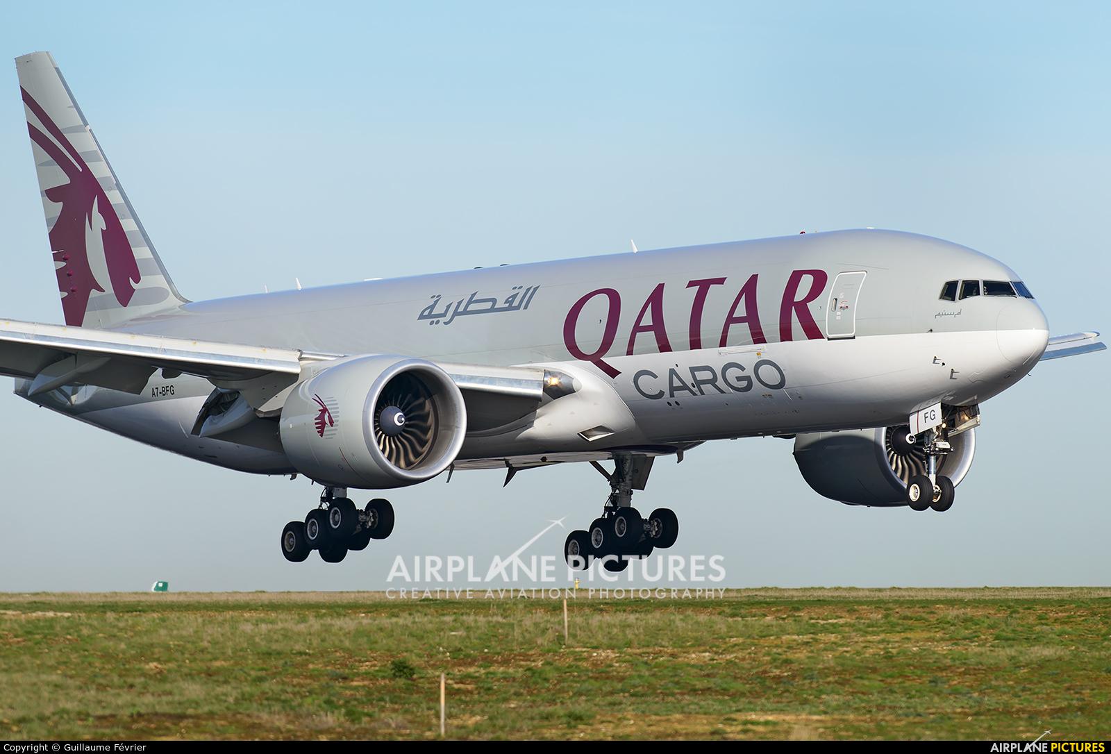 Qatar Airways Cargo A7-BFG aircraft at Paris - Charles de Gaulle
