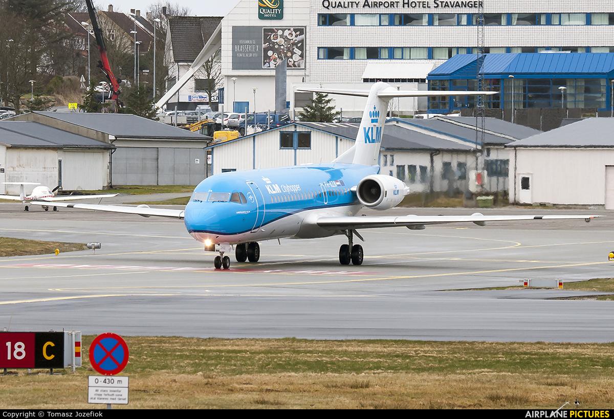 KLM Cityhopper PH-KZB aircraft at Stavanger - Sola